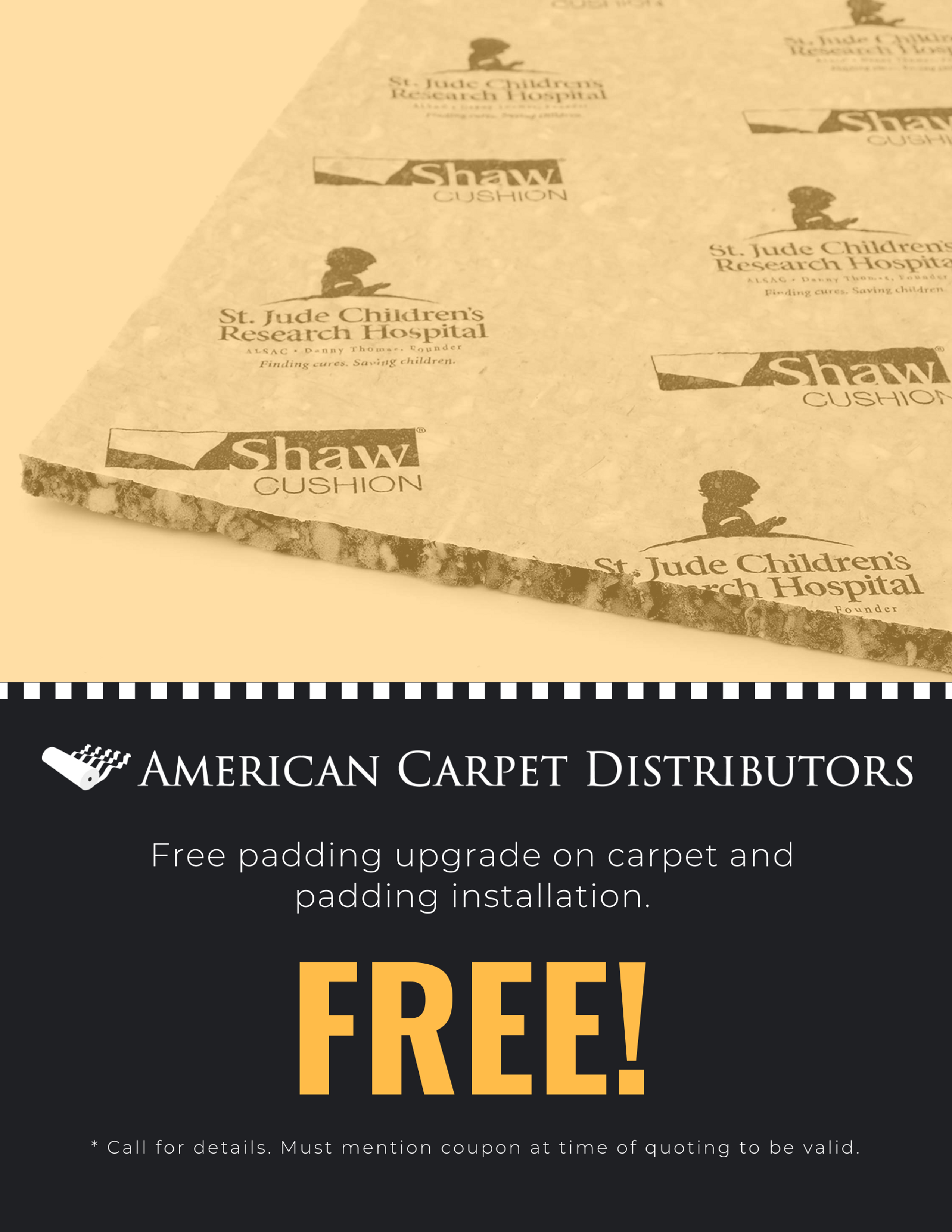 Carpet and Padding Installation Coupon