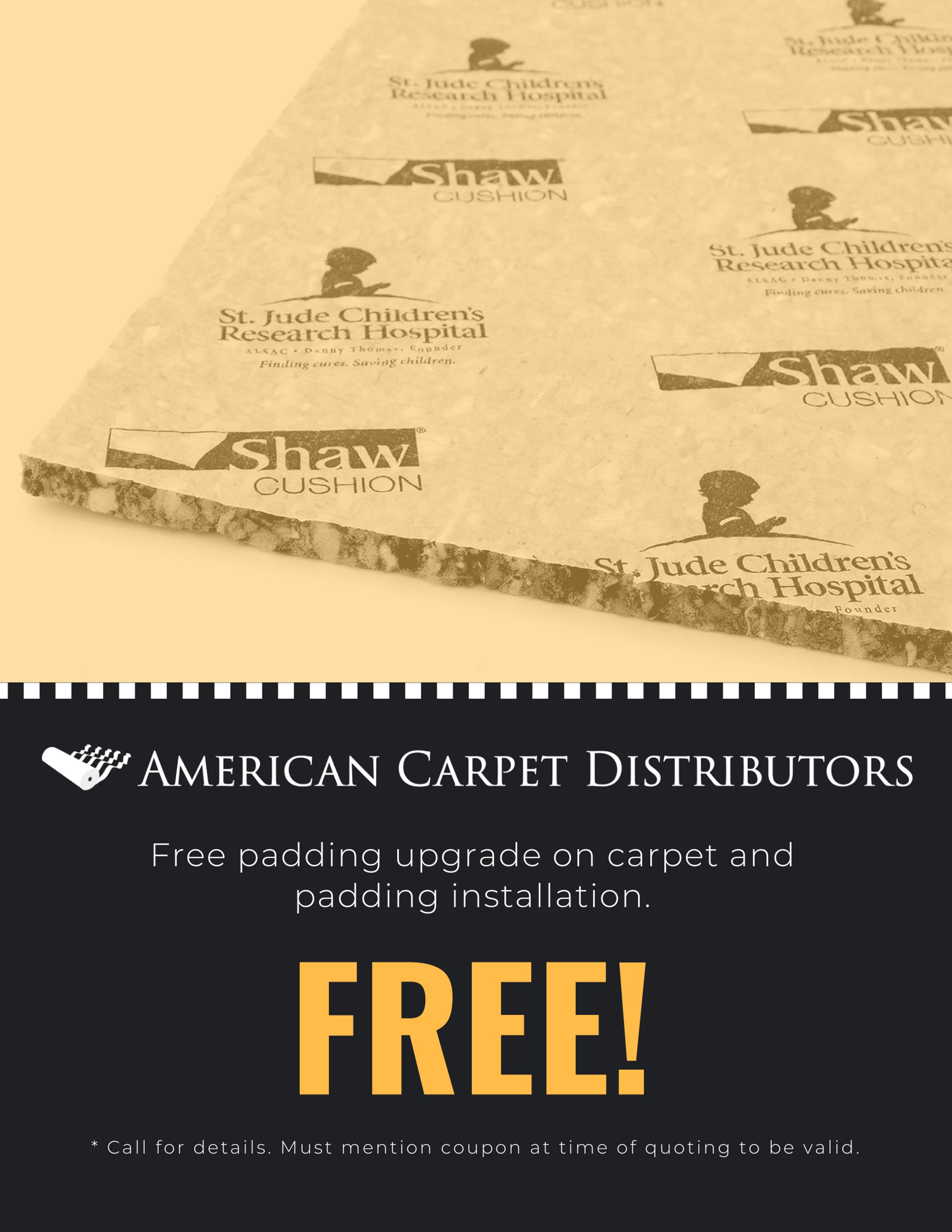 Carpet and Padding Installation Coupon
